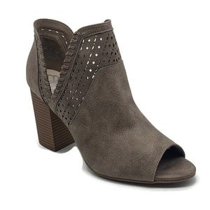 Fergalicious Huxley Perforated Open Toe Bootie
